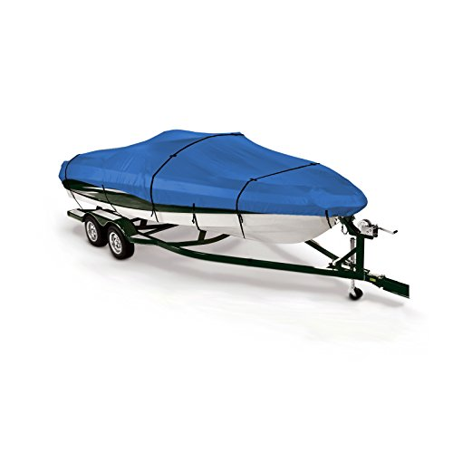 (SavvyCraft Trailerable Runabouts Boat Cover for V-Hull, Ski, Jet, Pro-Style Bass, Jon, Bowrider Boat Fits 17'-19'L, Beam up to 100