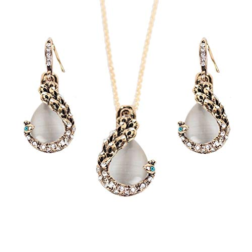 V-Moni Explosion Models Peacock Gemstone Necklace Earrings Set Wedding Accessories Women Fashion Accessories Lots Of Stock