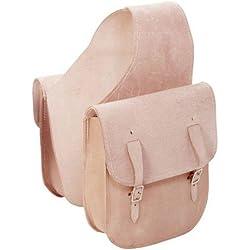 Tough 1 Roughout Leather Saddlebag Natural