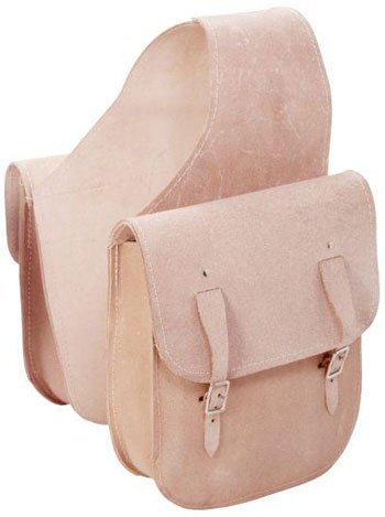 Leather Horse Saddlebags (Tough-1 Roughout Leather Saddlebag Natural)