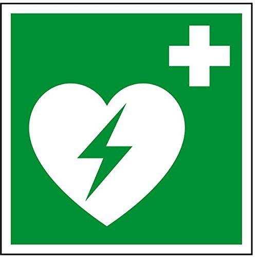 LEMAX® Rettungszeichen Automatisierter externer Defibrillator,ASR/ISO,Folie,100x100mm