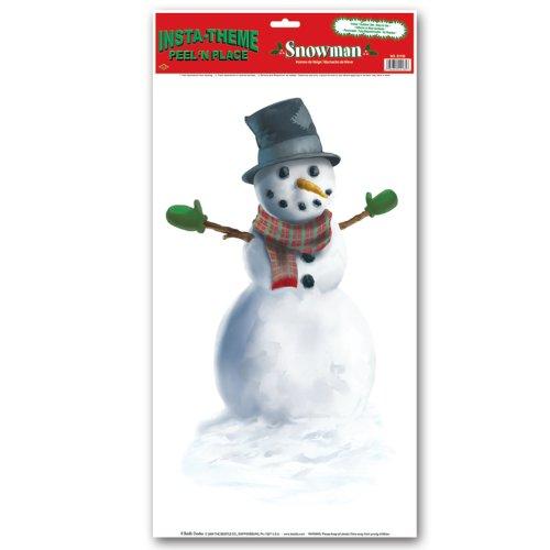 Snowman Peel 'N Place (Winter Wonderland Party Costume)