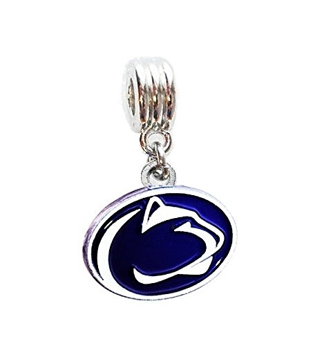 (PSU PENN STATE UNIVERSITY NITTANY LIONS CHARM SLIDER PENDANT ADD TO YOUR NECKLACE, EUROPEAN BRACELET, DIY PROJECTS, ETC.)