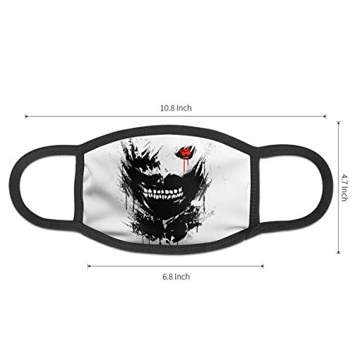 to-kyo Gh-OUL Face Mouth Cover Mask Reusable Anti Dust Anti Pollution Unisex Earloop Breathing Mouth Shade Black