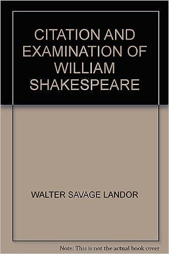 Citation And Examination Of William Shakespeare Amazon Com Books