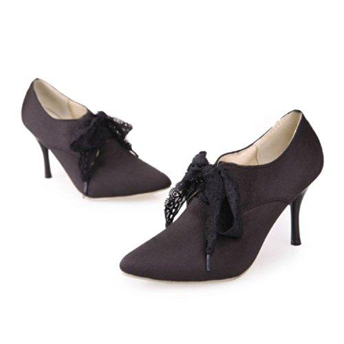Charm Boots Womens High Foot Shoes Heel Fashion Black Ankle TrqzOT7