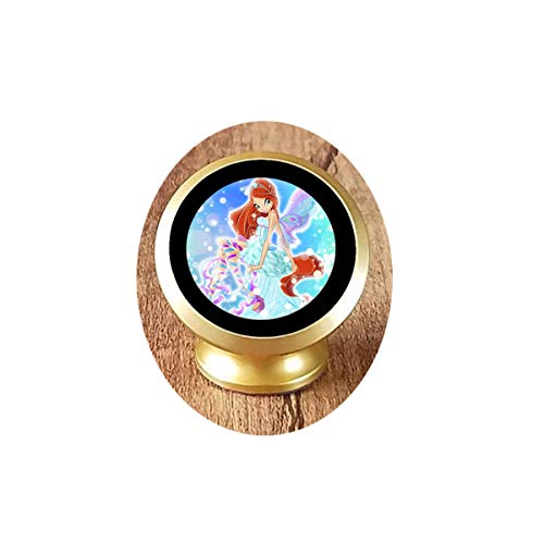 Cute Cartoon Pendant Necklace Children's Gift Woman's Gift Magical Fairy Glass 13 Magnetic Car Phone Mount Holder ()