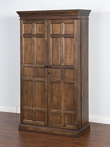 Sunny Designs Savannah Bar Armoire, 43 by 21 by 76
