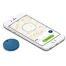 Chipolo Plus Smart Keyring Bluetooth Tracker, Phone Finder, Key Finder, Wallet Finder, Item Finder - Ocean Blue