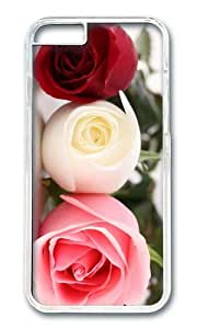 MOKSHOP Adorable Colored Roses Hard Case Protective Shell Cell Phone Cover For Apple Iphone 6 Plus (5.5 Inch) - PC Transparent
