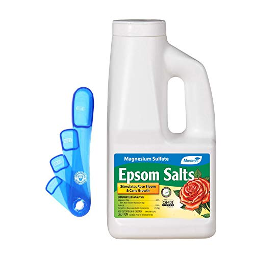 Plant Food Ind (Epsom Salts, 4 LB Bag, with 4 Measuring Spoons)