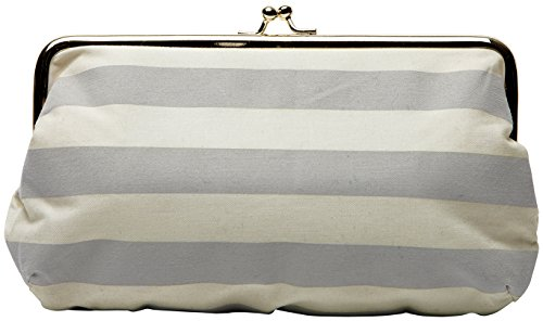 C.R. Gibson Wedding Day Travel Emergency Kit Clutch, Silver Stripe, One Size by C.R. Gibson