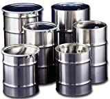 Skolnik Un-Approved Stainless Steel Drums - Open-Head - 55-Gal. Capacity
