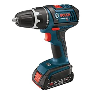 Bosch DDS181-03 18V Compact Tough Drill Driver with (1) 1.5Ah and (1) 3.0Ah Batteries
