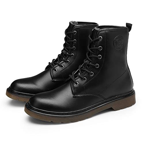 DAYOUT Boots Women Boots Winter Boots for Women Leather Boots Black (US10.5/EU41/10.37Inches)