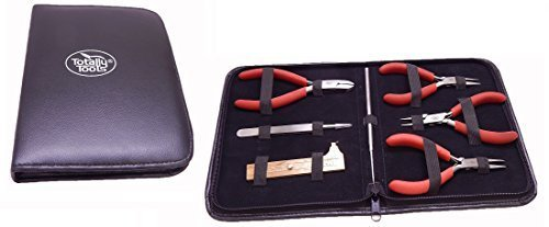 Price comparison product image Totally Tools 7-Piece Professional Jewelry / Beading Ergonomic Tool Kit with Leather Case