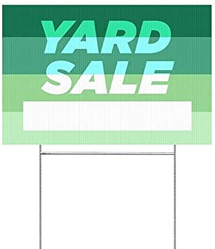 5-Pack Modern Gradient Double-Sided Weather-Resistant Yard Sign CGSignLab 18x12 Yard Sale