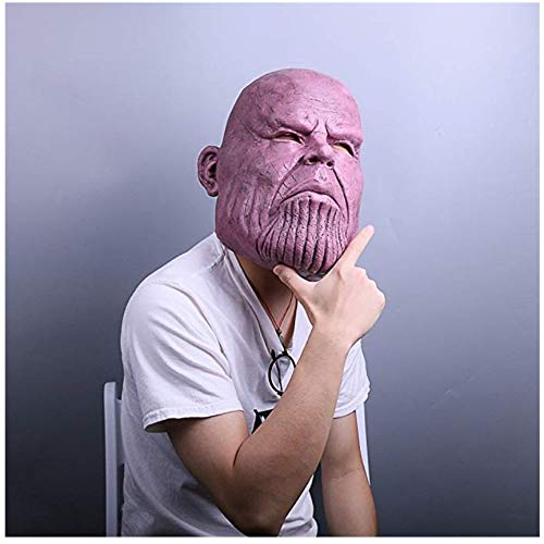 Avengers Infinity War Cosplay Thanos Mask.Halloween costumes.Funny and weird latex mask.Used for Halloween props,friends play pranks on each other.Head circumference can be worn between 54cm and 62cm. by KTRO (Image #2)