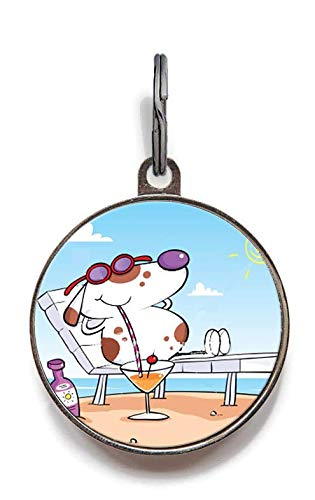Wag-A-Tude Tags Vacation Sunbathing Dog ID Tag - Personalized for sale  Delivered anywhere in USA