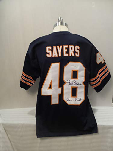 Gale Sayers Signed Chicago Bears Blue Autographed Jersey Novelty Custom Jersey -