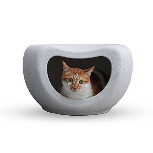 LeChat Plastic Weatherproof Cat House & Cat Bed Seat for Indoor & Outdoor Use [With a Deluxe Pet Blanket] (Cat Plastic House)