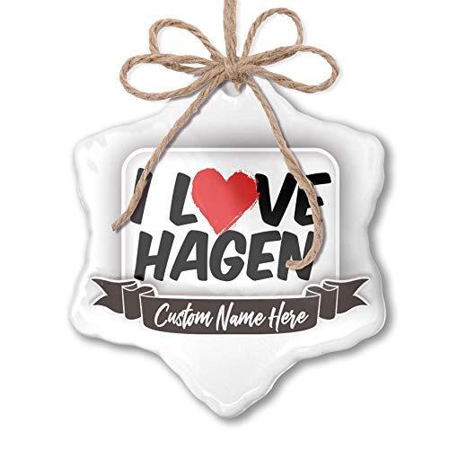 NEONBLOND Create Your Ornament I Love Hagen Personalized