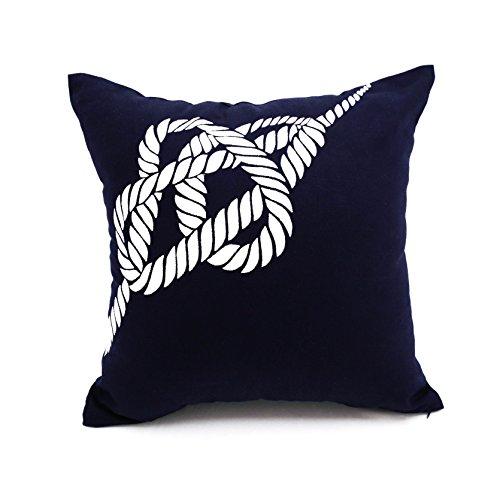 pillow case navy blue sailing
