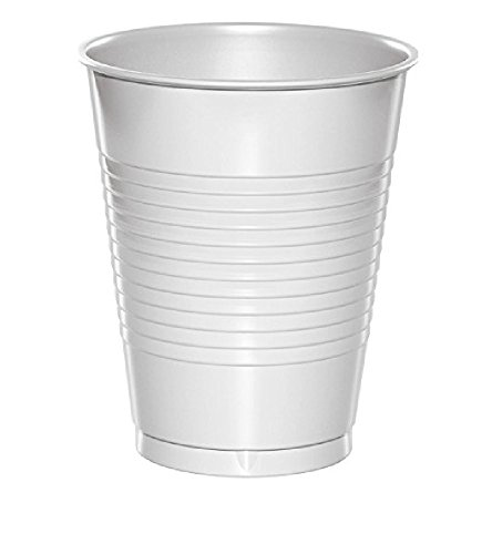 Creative Converting Value Pack Plastic Cups, White, 100-Count ()
