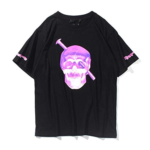 b34700976 YYWan Vlone Short Sleeve Big V Fluorescent Skull Summer for sale Delivered  anywhere in USA