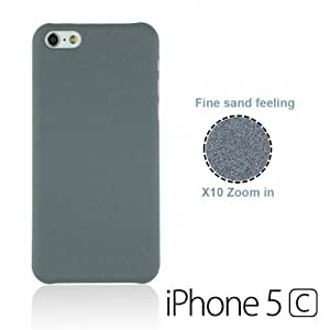 OnlineBestDigital - Frosted Surface Hard Back Plastic Case for Apple iPhone 5C - Grey with 3 Screen Protectors