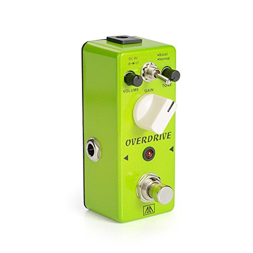 Bass Screamer Tube - AA - AGR-5 Green Mini Portable Vintage Tube Overdrive Guitar Effects Pedal for Guitar Bass