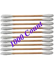 Cotton Swaps Wooden Sticks, 1000 Count (10 Packs) 100% Cotton Cotton Sticks