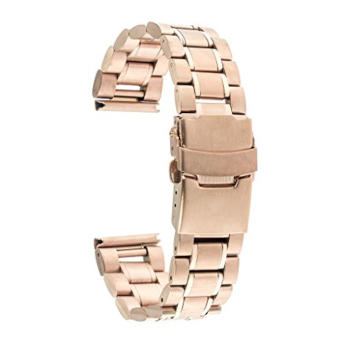 TRUMiRR 20mm Watch Band Stainless Steel Strap Bracelet with