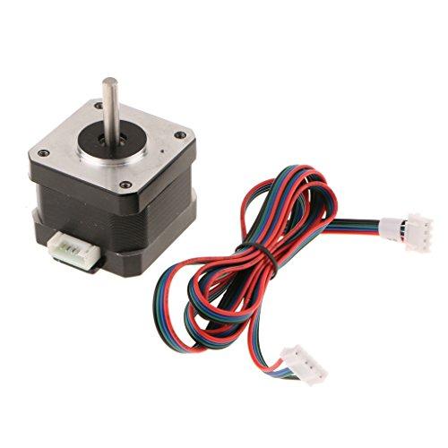 MonkeyJack 4-lead Nema 17 Stepper Motor SL42STH40-1684A 40MM 78Oz for 3D Printer by MonkeyJack