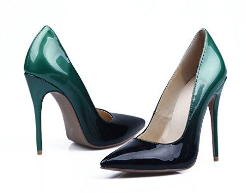 TDA - Sandalias con cuña mujer negro/verde