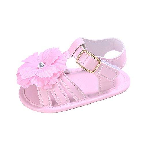 MK MATT KEELY Baby Girls Summer Sandals Infant Flower Princess Shoes Non-Slip Pink 13
