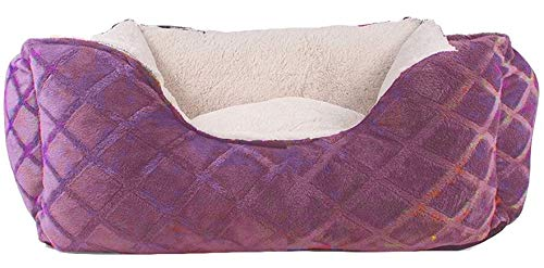 Cozy Cuddlerz C-03BS Rose Diamond Deluxe Pet Bed, 18″ x 16″ x 7″, Rose