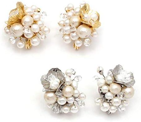 pearl bouquet イヤリング:zoule(ゾーラ) カラー:ゴールド