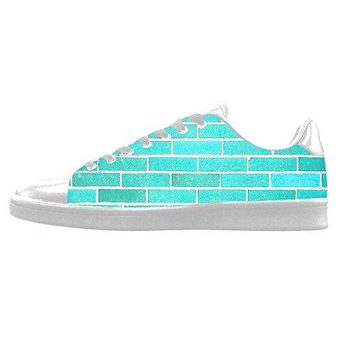 Paquete De Cuenta Regresiva Falsa Salida Custom struttura del muro di mattoni Mens Canvas shoes I lacci delle scarpe in Alto sopra le scarpe da ginnastica di scarpe scarpe di Tela. De Italia uCI4d7Pi