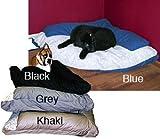 Kreature Komfort  Corner Bed with Bolster Kahaki 44 X 64, My Pet Supplies