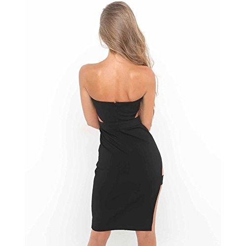Frauenreizvolles trägerloses bodycon Kleid Sleeveless Taille ...