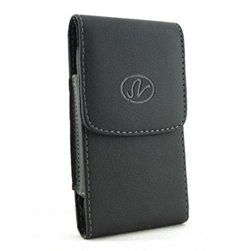 Vertical Phone Case Leather Belt Clip Holster Pouch Cover for Virgin Mobile Motorola Moto E (2nd Generation) - Virgin Mobile Motorola Moto G (3rd Gen) - Virgin Mobile Nokia Lumia 635 (Motorola G Cover 2nd Generation)