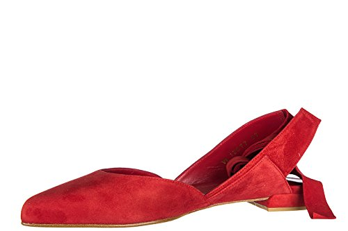 Stuart Weitzman ballerines femme en daim neuves supersonic rouge