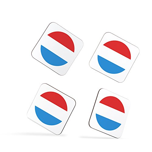 Luxembourg Luxembourger Flag Lëtzebuerg Fändel Luxemburg Flagge Drapeau Coasters