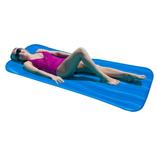 Deluxe 1.75-in Thick Cool Pool Float - Blue Blue Pool Float