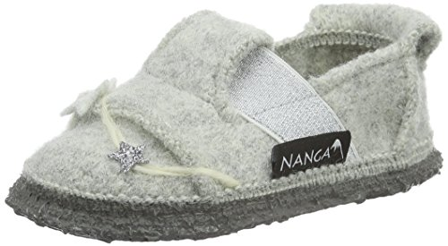 Nanga Mädchen Twinkle Flache Hausschuhe Grau (schiefer / 65)