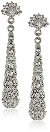 Downton Abbey Boxed Silver-Tone Crystal Drop Earrings by Downton Abbey