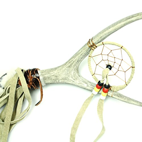 Lakota Crafters Buffalo Dancing Stick with Dream Catcher by Yellow Pony by Lakota Crafters