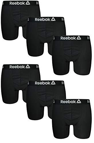 Reebok Mens 6 Pack Athletic Performance Boxer Briefs