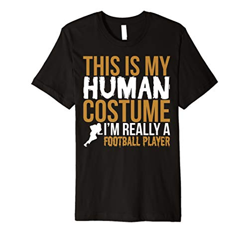 Funny Football Player Gift T Shirt -This Is My Human -